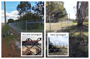 Chainmesh fencing - Knuckle Selvedged and Barb Selvedged installations
