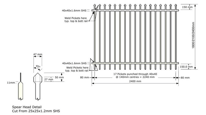 TWF garrison fencing specifications